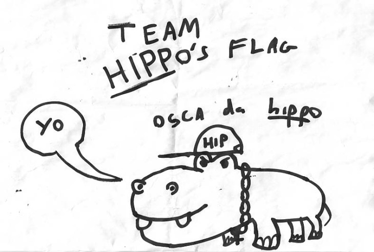Team Hippo, found drawing
