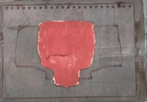 Dye screen print, 28 August 2013.