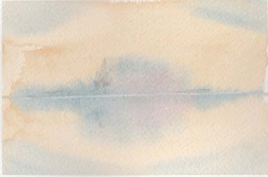 "Cool colours into a warm background - the basis for Turner's ""Blue Rigi"""