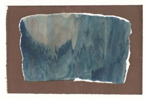 A landscape 'found' in the print, 11 September 2013