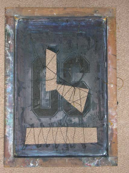 The 'front' of the screen prior to printing.
