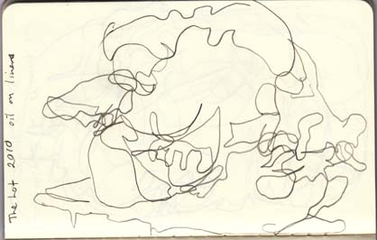 Blind drawing of The Lot by Ben Quilty, 2010