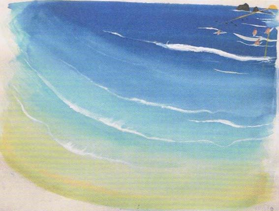 Brett Whiteley, Wategoes Beach II, 1989, watercolour, gouache, collage on white wove paper. Brett Whiteley Studio.