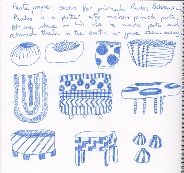 Pots, inspired by Paulus Behrensohn, 21 January 2014.