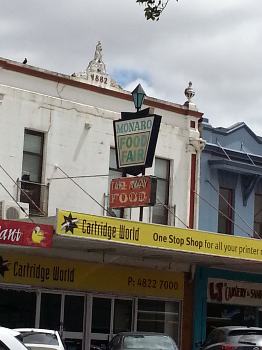 Old neon sign Goulburn.
