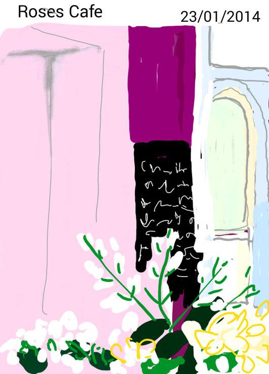 Inside the Roses Cafe, Goulburn.