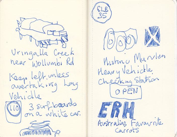 Page 3, road sketches, 10 February 2014.