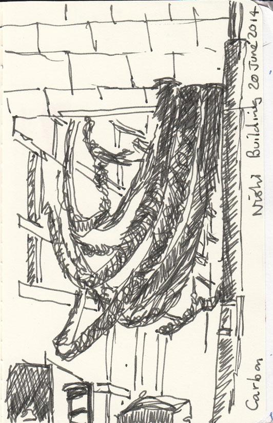 Carbon, by Steven Siegel, pen and ink, 20 June 2014.