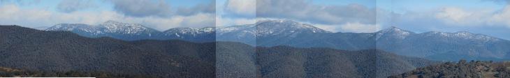 Snow on the Brindabella Ranges, 30 June 2014.