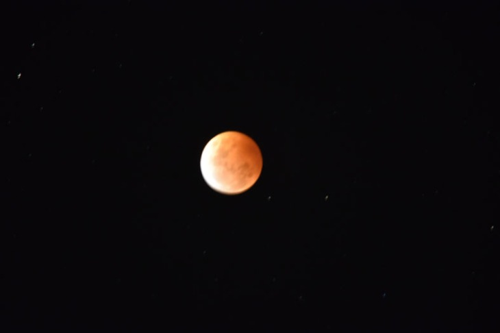 Lunar eclipse at 847 pm Eastern Daylight Saving Time (EDST), 8 October 2014