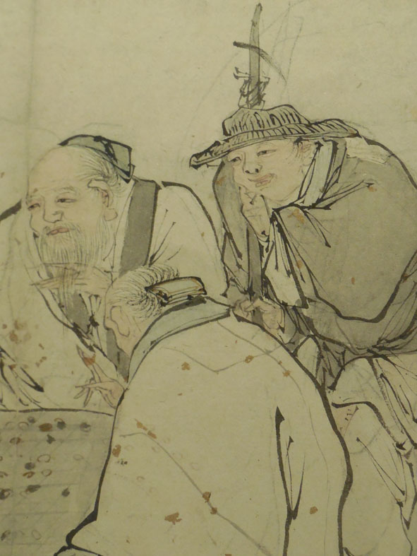 Detail of the Four Sages of Shang Mountain by Zhang Lu