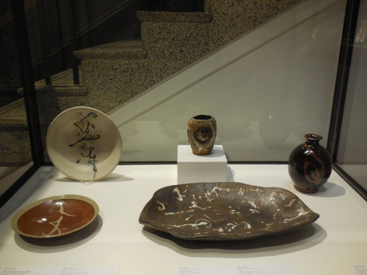 Ceramics by Shoji Hamada and Milton Moon (and possibly another artist who's name I've forgotten)