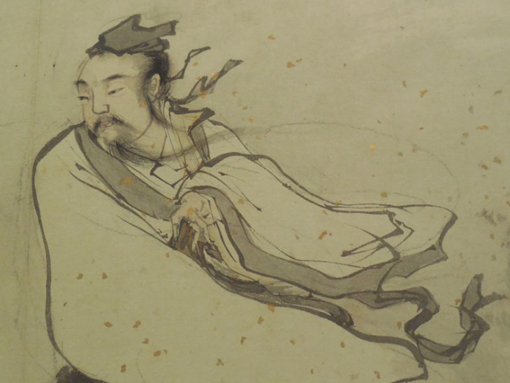 Detail of the painting of the Philosopher Liezi by Zhang Lu.