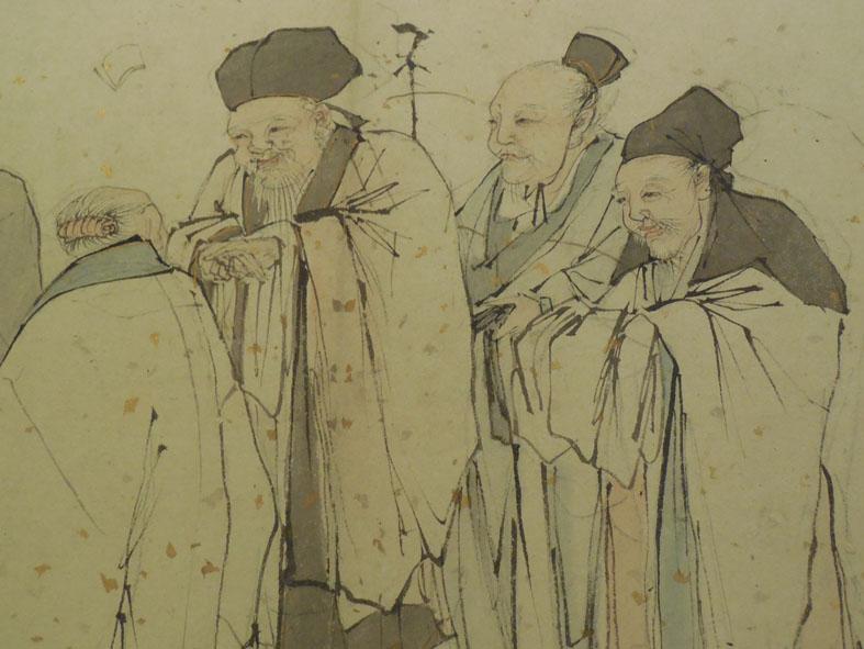 Detail of the Five Elders by Zhang Lu