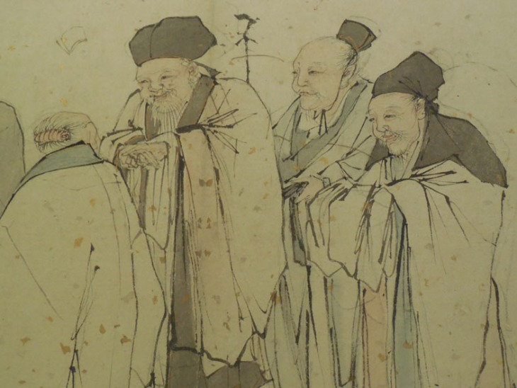 Detail of the Five Elders by Zhang Lu