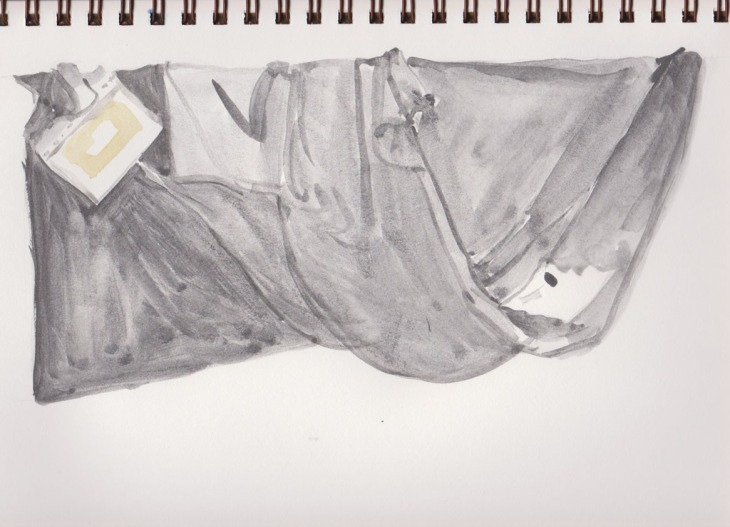 Some light washes get the shaping underway, Art Graf water soluble graphite