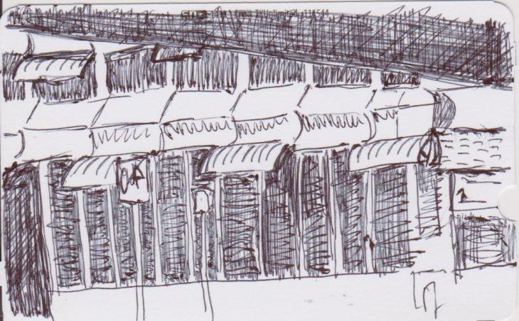 Multi-storey carpark, Canberra, 5 December 2015, ballpoint pen