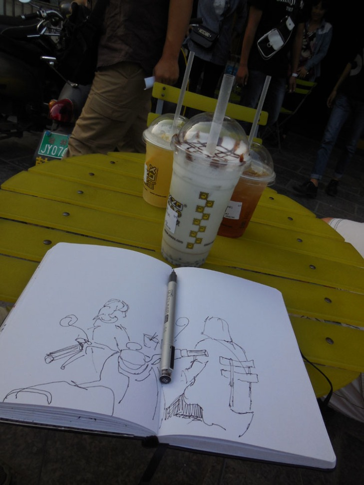 Sketching in Guilin