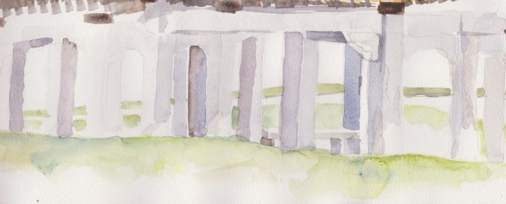 Where I probably should have stopped!, watercolour, 13 January 2015