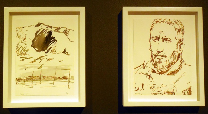 Ben Quilty, sketches made in Afghanistan