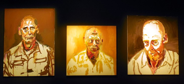 Three portraits of Air Commodore John Oddie, Ben Quilty