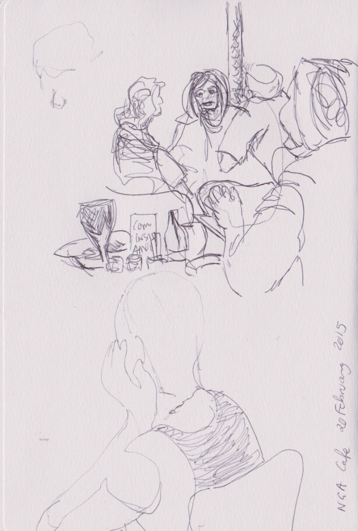 At the National Gallery of Australia cafe, 20 February 2015, ball point pen