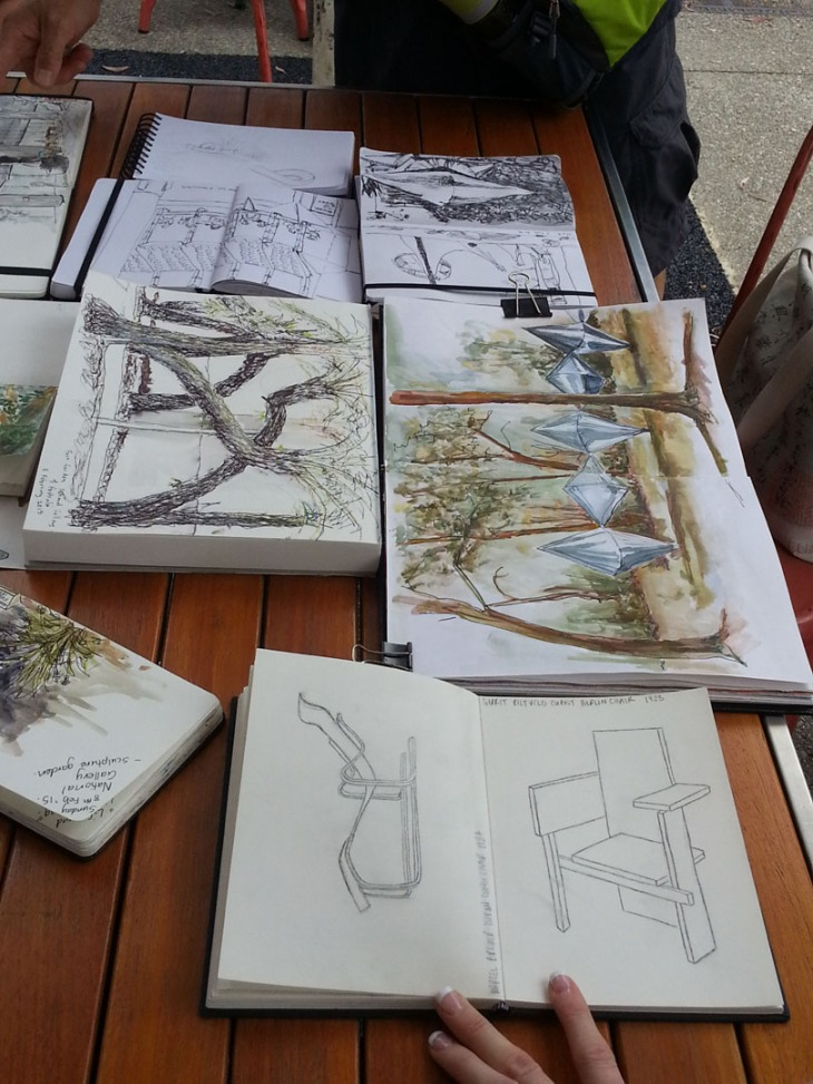 Canberra sketchers, our first get together, 8 February 2015