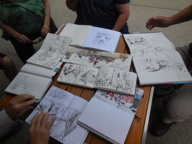 Collective efforts, some of the sketches from the Sunday sketch crawl at the NGA