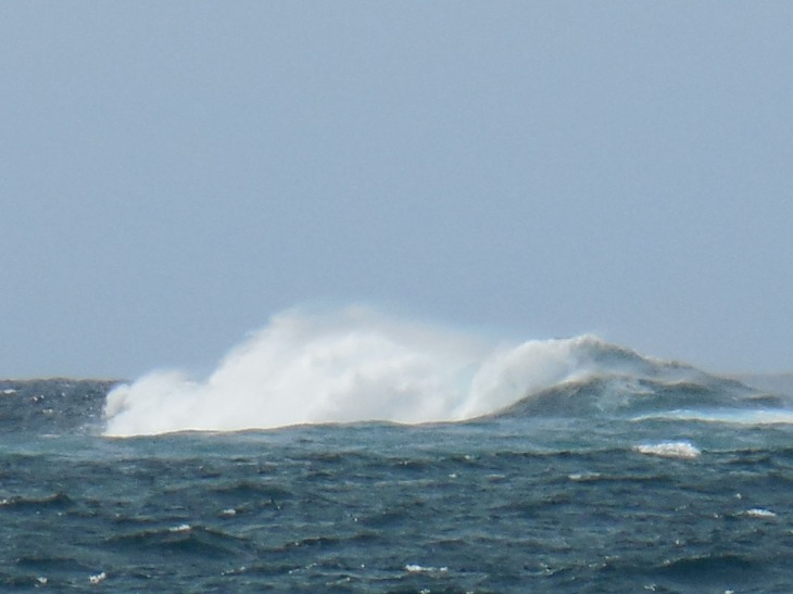 Offshore waves breaking on rocks off Depot Beach