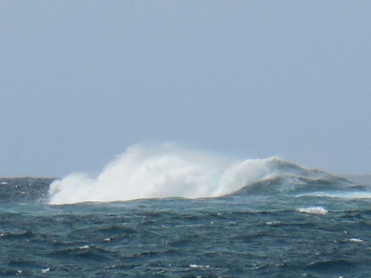 Offshore waves breaking on rocks off Depot Beach