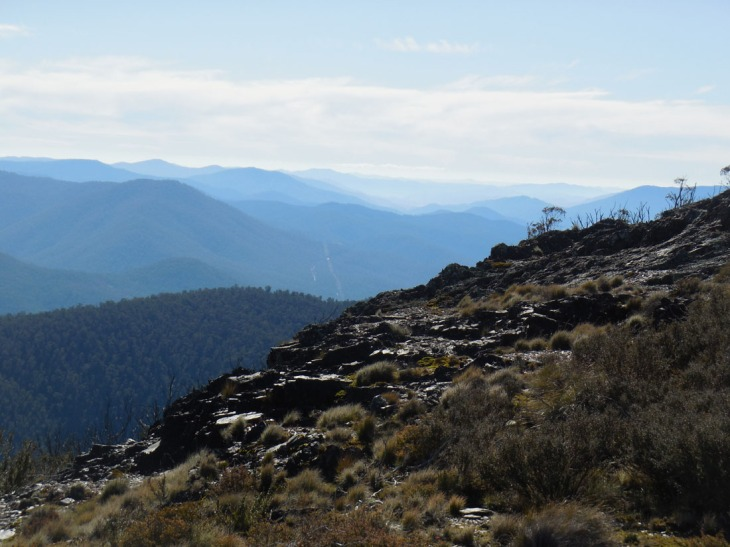 Mountain views, from Mt Aggie, Australian Capital Territory, 17 May 2015