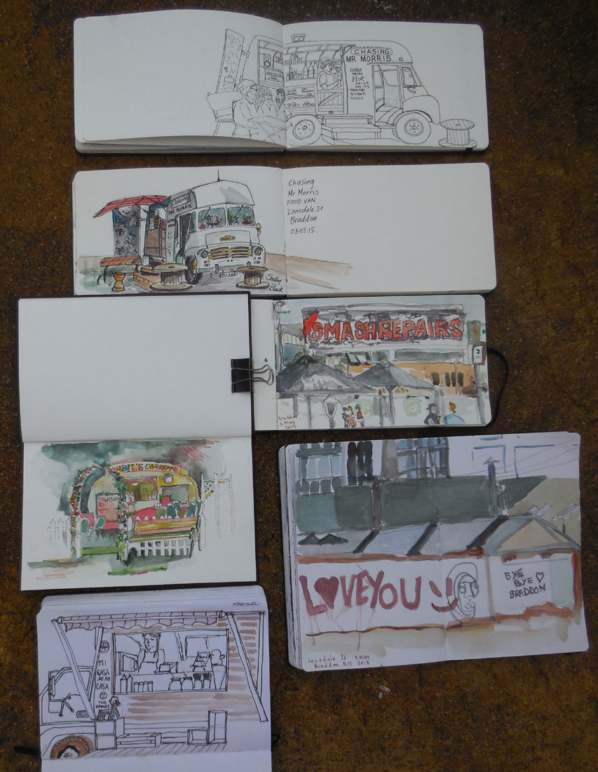 Some of the groups drawings, 3 May 2015