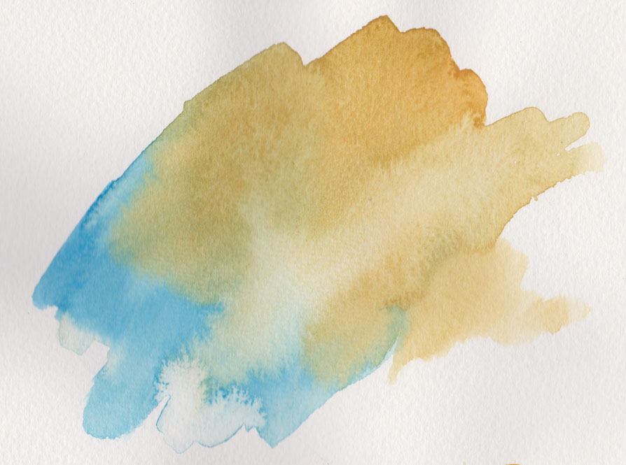 Manganese Blue Hue and French Ochre