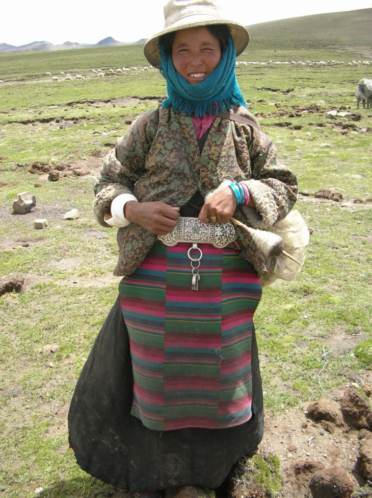 Tibetan woman herder