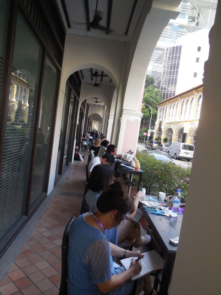 Heads down and working hard! Purvis St, Singapore