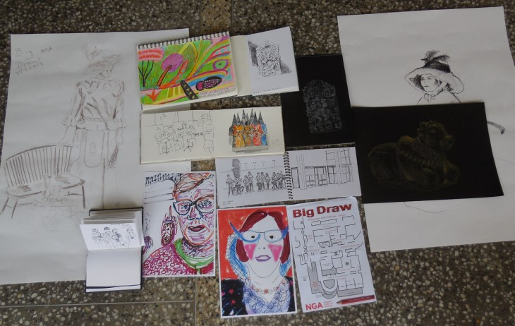 USk Canberra sketches from the Big Draw