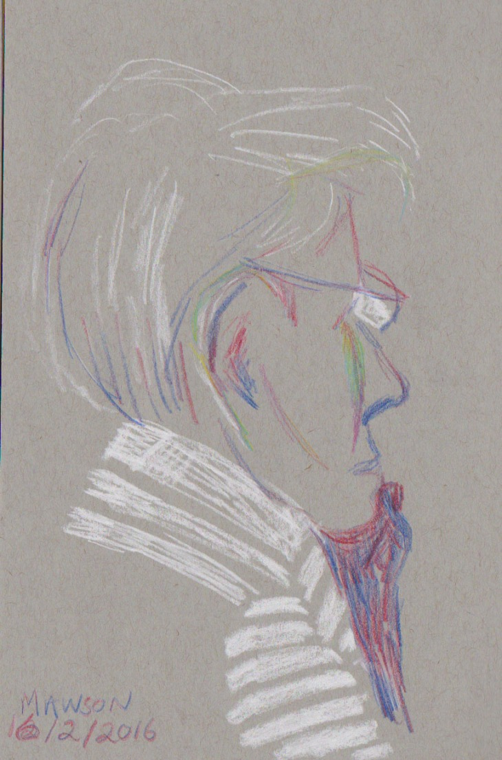 Face, white chalk and magic pencils, America and Tropical
